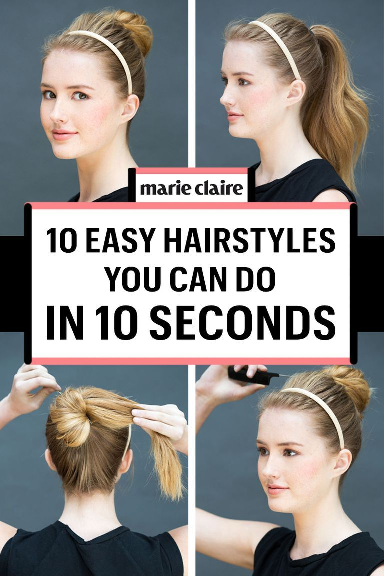 Super Easy Hairstyles You Can Do In Less Than A Minute Easy Hairstyles Fast Hairstyles Super Easy Hairstyles