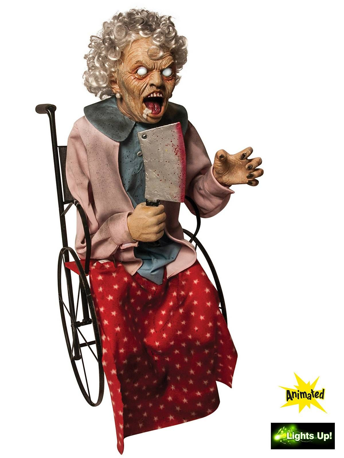 animated wheelchair granny prop animated props at frightcatalogcom - Fright Catalog Halloween Decorations
