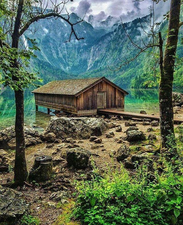 Lake Luxury Log Homes: Old Log Cabin Or Boathouse
