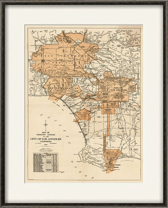 Los angeles map print map vintage old maps by victorianwalldecor los angeles map print map vintage old maps antique map poster map decor home decor wall map city old prints los angeles print print gumiabroncs Image collections