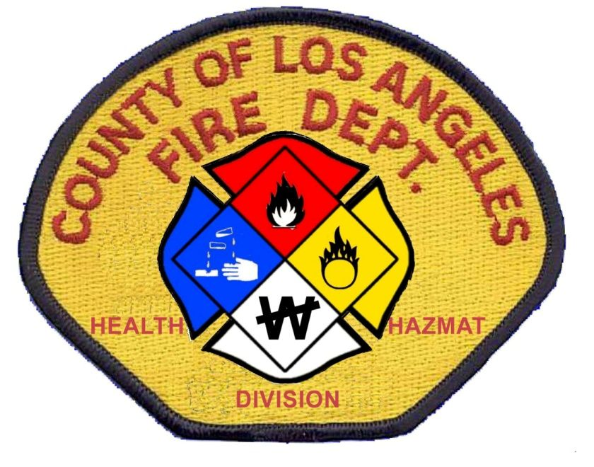 Los Angeles County Fire Department Health Hazmat Division Fire Department Fire Badge Fire Service