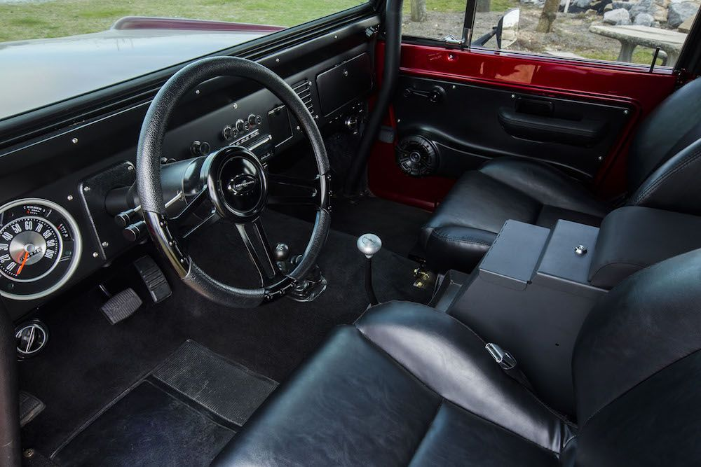 1976 Classic Ford Bronco Interior From Our Famous Kandy Truck Featuring Carpet High Back Seats Speaker Pod Classic Ford Broncos Ford Bronco Classic Bronco