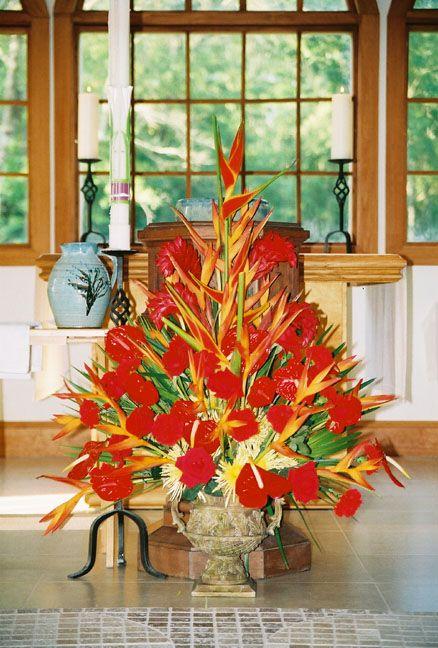 Pentecost Floral Design Church Flower Arrangements