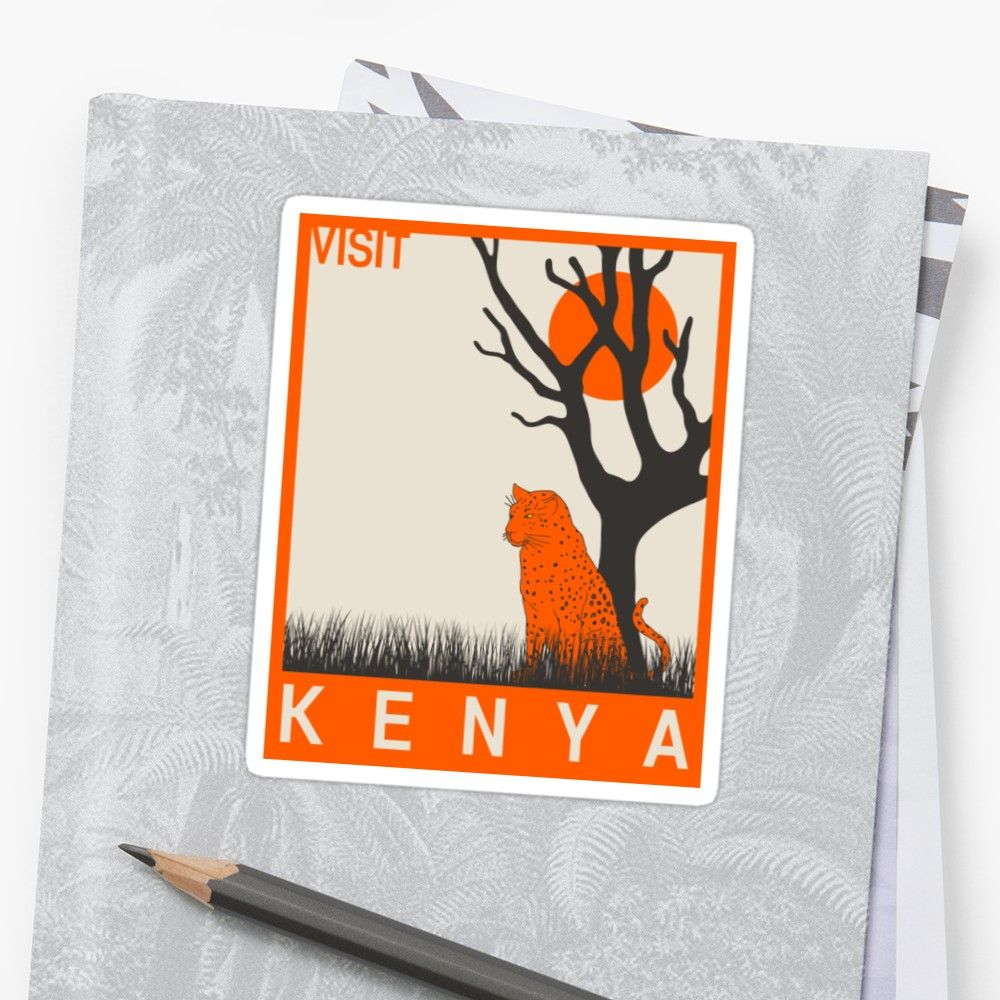 Visit kenya travel poster • also buy this artwork on stickers apparel phone cases and more