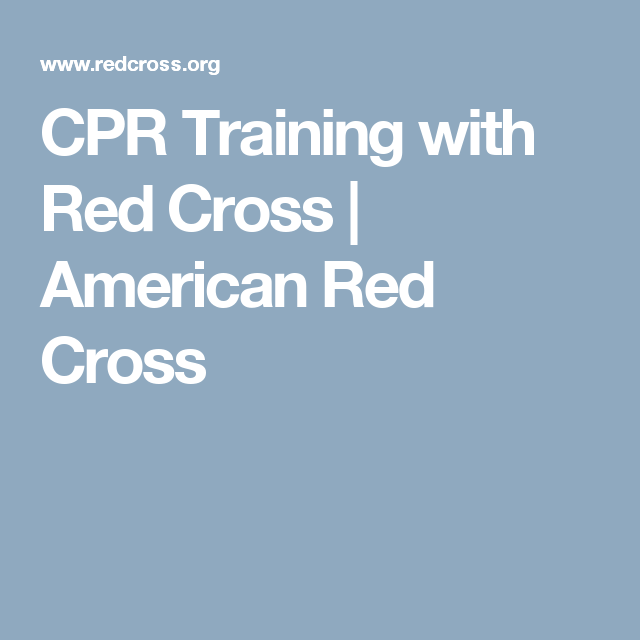 Cpr Training With Red Cross American Red Cross Cleaning