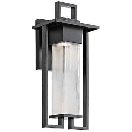 Kichler chlebo 21 14h black outdoor halogen wall light style kichler chlebo 21 14h black outdoor halogen wall light aloadofball Gallery