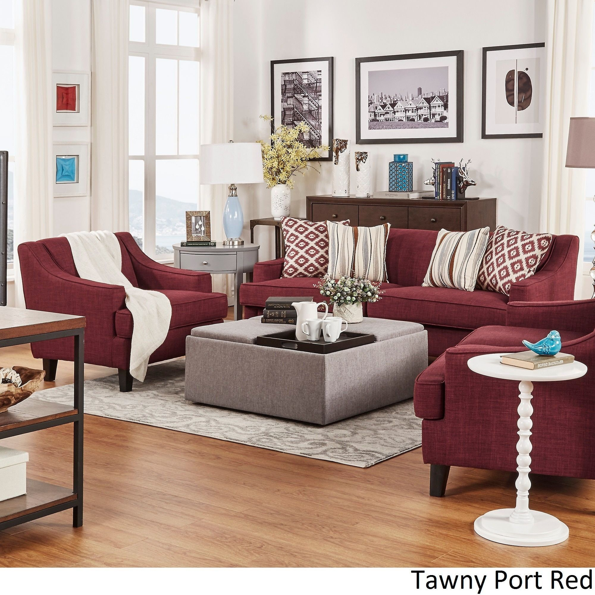 Overstock Com Online Shopping Bedding Furniture Electronics Jewelry Clothing More Burgundy Couch Living Room Burgundy Living Room Perfect Living Room Decor