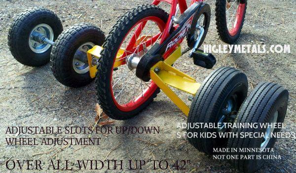 Special Needs Wide Training Wheels  HigleyWelding.com