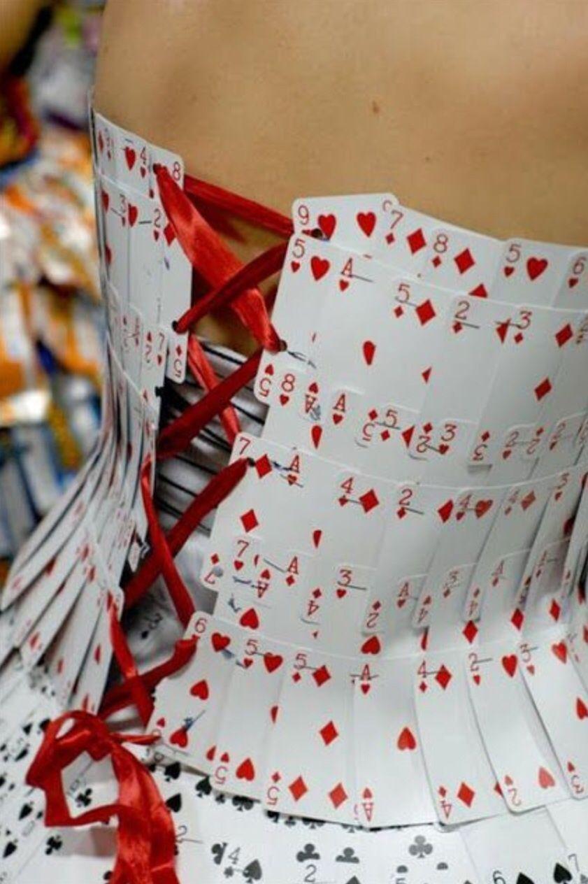 Card corset dress back