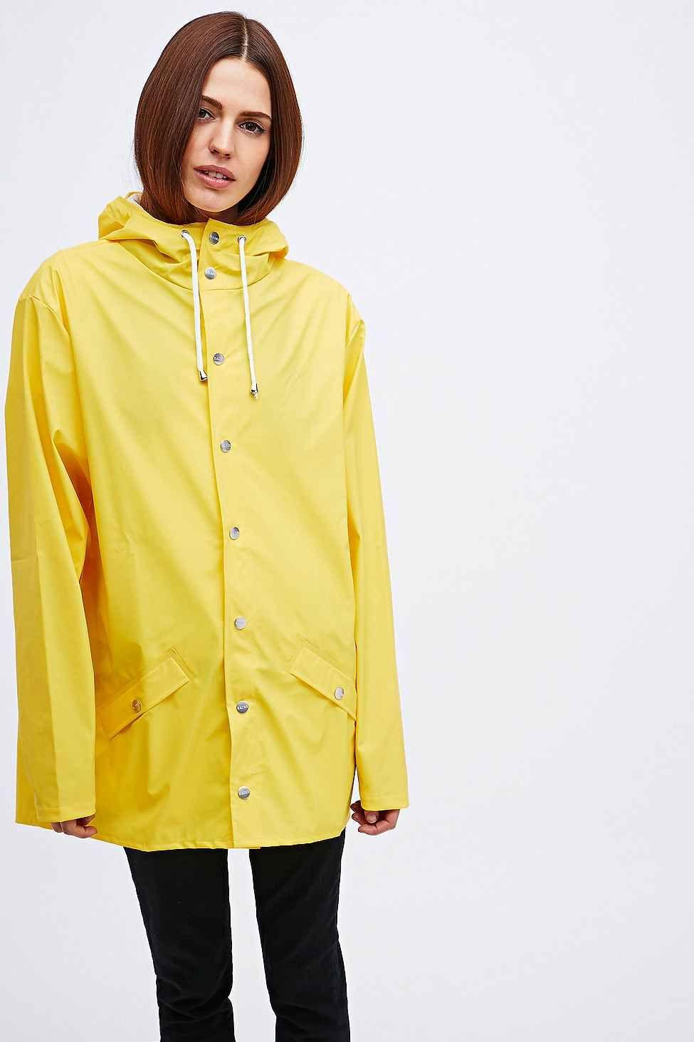 Rains Jacket In Yellow Wear Raincoat