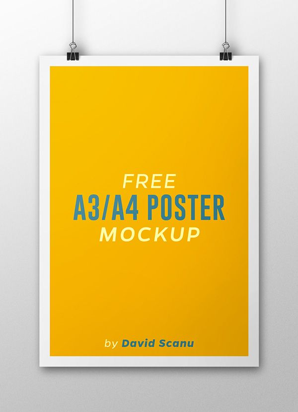 Free A3 \/ A4 Poster Mock Up on Behance Design Production - free poster template word