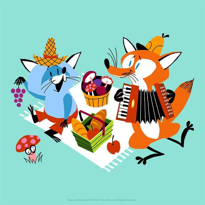 本日のイラストレーション今回は秋らしく Illustration Characters