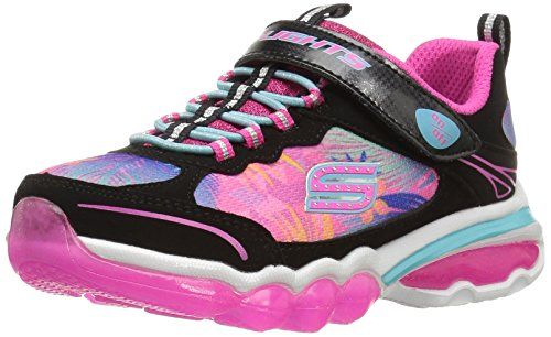 Skechers Kids Nebula Prism Pop Sneaker (Little Kid / Big Kid), Noir / Multi