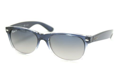 eb0d505417883e Ray Ban RB2132 New Wayfarer Sunglasses - 822 78 Blue Gradient Transparent  (Crystal Polarized Blue Gradient Gray Lens) - 55mm Ray-Ban.  122.50