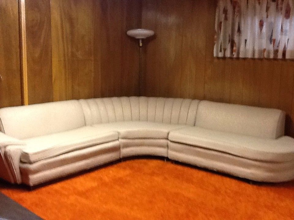 Vintage Late 1950 S Couch In Three Sections Awesome Retro Look
