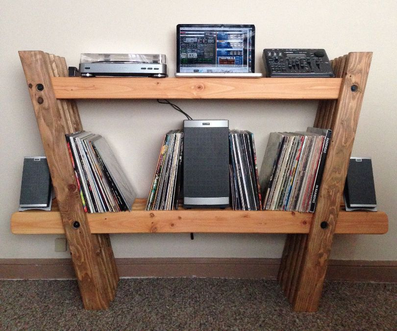 Record & Stereo Shelves Cardboard furniture, Diy