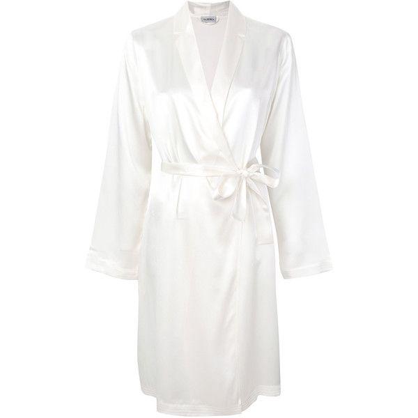 La Perla short robe ($294) ❤ liked on Polyvore featuring intimates ...