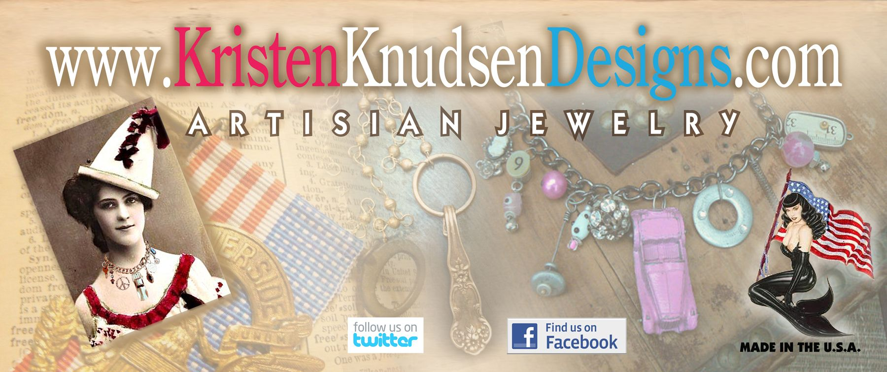 Banner for Booth when doing Art Shows  www.KristenKnudsenDesigns.com