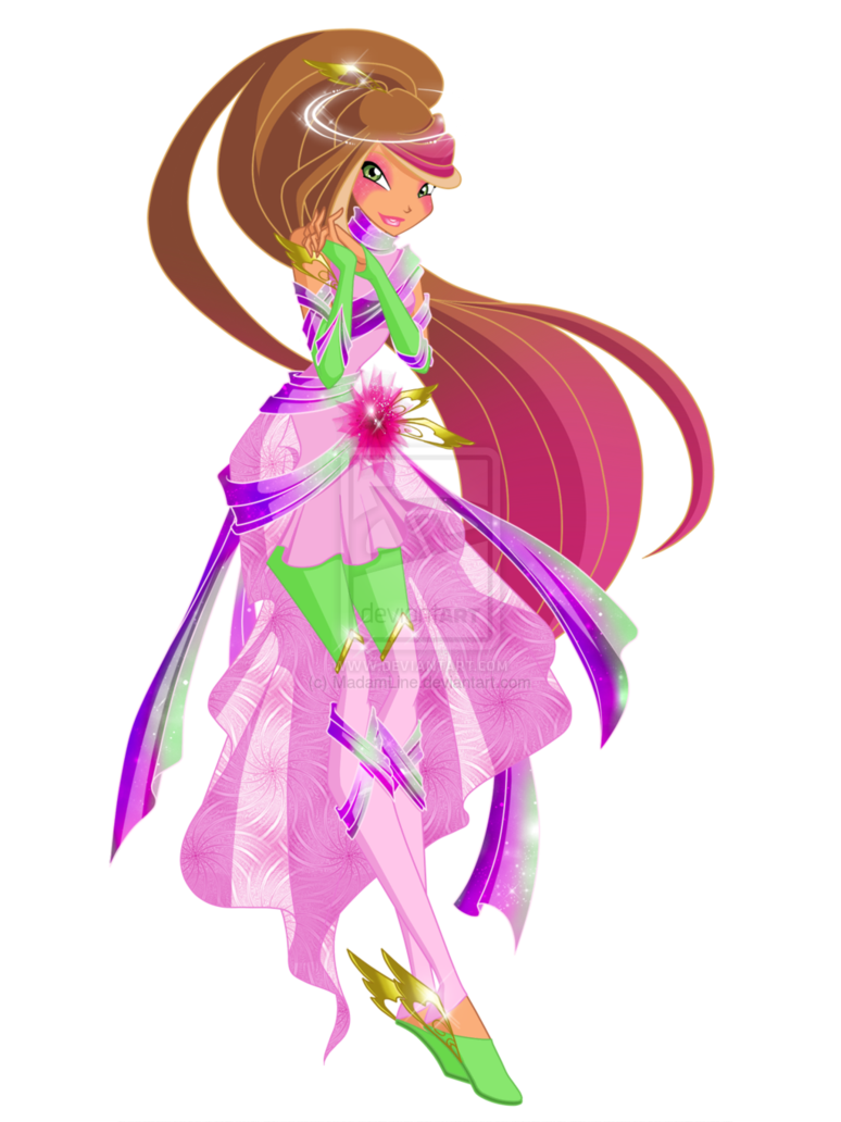 Flora Zeterise First Version By Mayrina Chan Winx Club