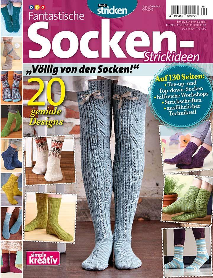 Fantastische Socken-Strickideen 04/2016 | Simply Kreativ