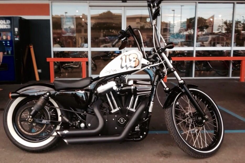 Harley Davidson Sportster 48 Ape Hangers Custom Paint 21 Front Wheel VH Short Shots