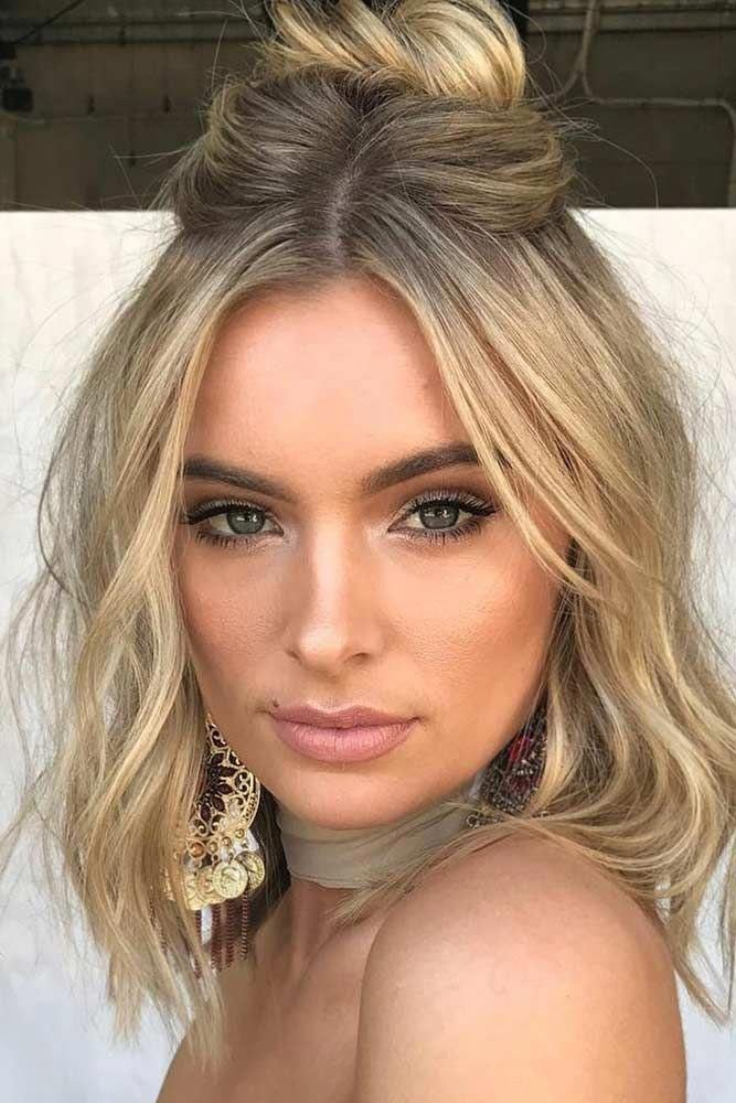 Trendy Prom Half Up Half Down For Short Hair Picture 3 Hairdoforshorthair Prom Hairstyles For Short Hair Medium Hair Styles Medium Length Hair Styles