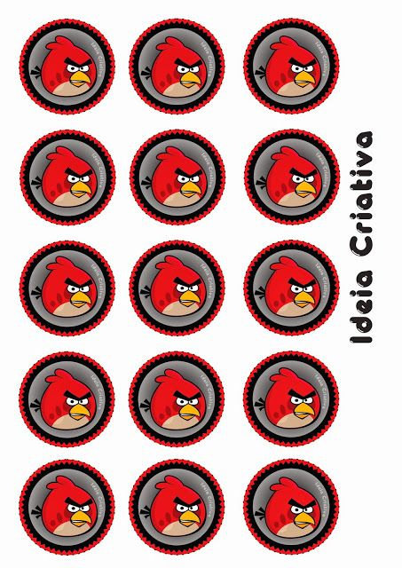 Angry Birds Free Printable Labels Or Toppers