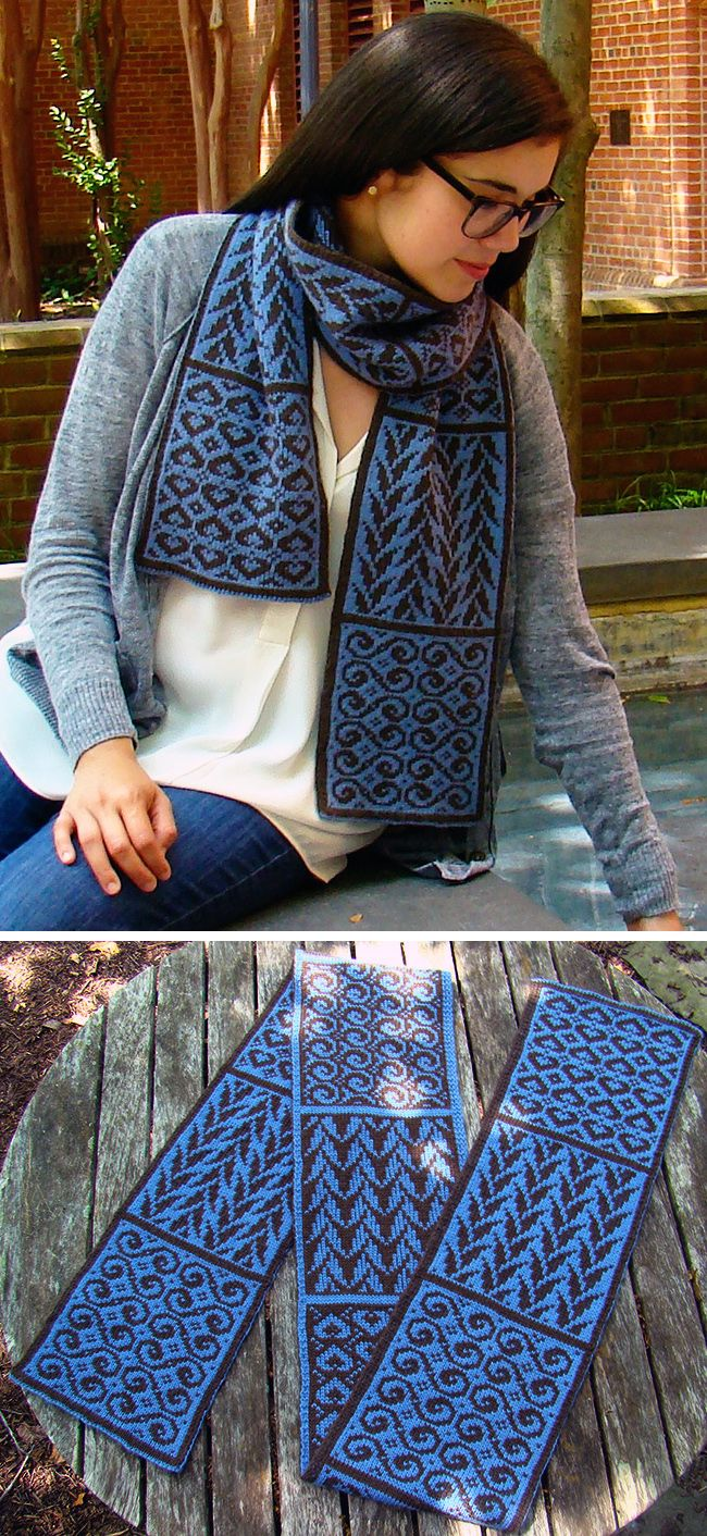 Free Knitting Pattern for Crystalline Symmetry Sampler Scarf - This ...