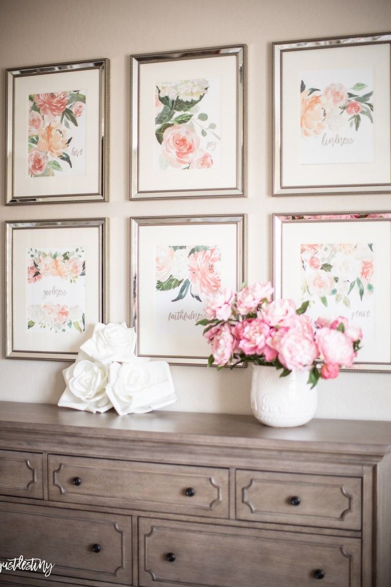 Romantic Gallery Wall Just Destiny Spring Bedroom Decor