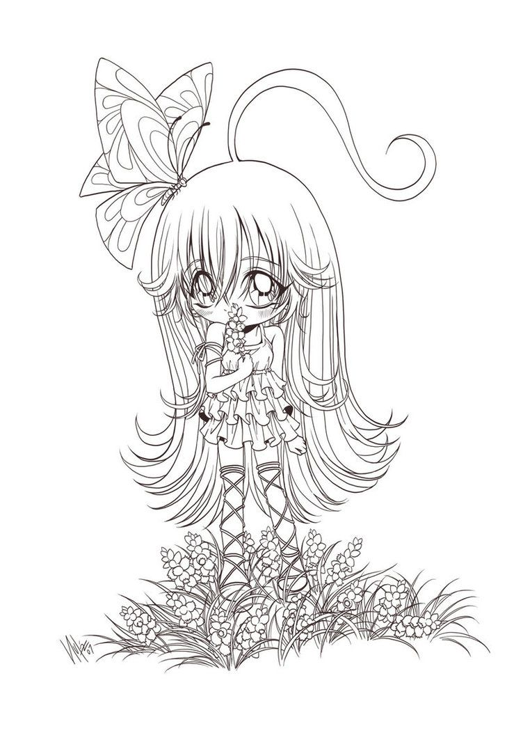 chibi girl and flowers... by *sureya on deviantART | letras ...
