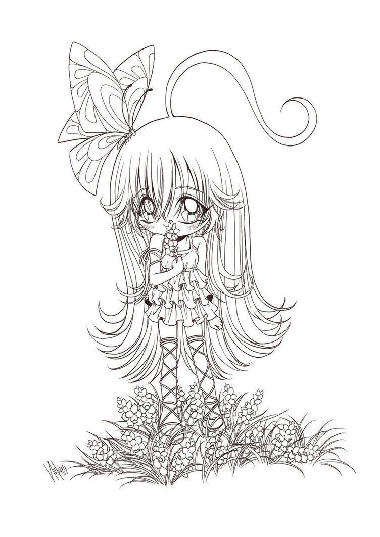 chibi girl and flowers... by *sureya on deviantART | Copics ...