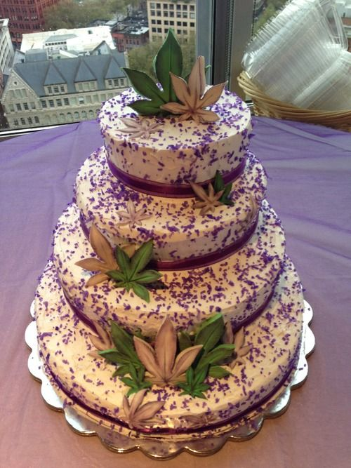 Cannabis Business Owners Wedding Cake Once Upon A Time Pinterest