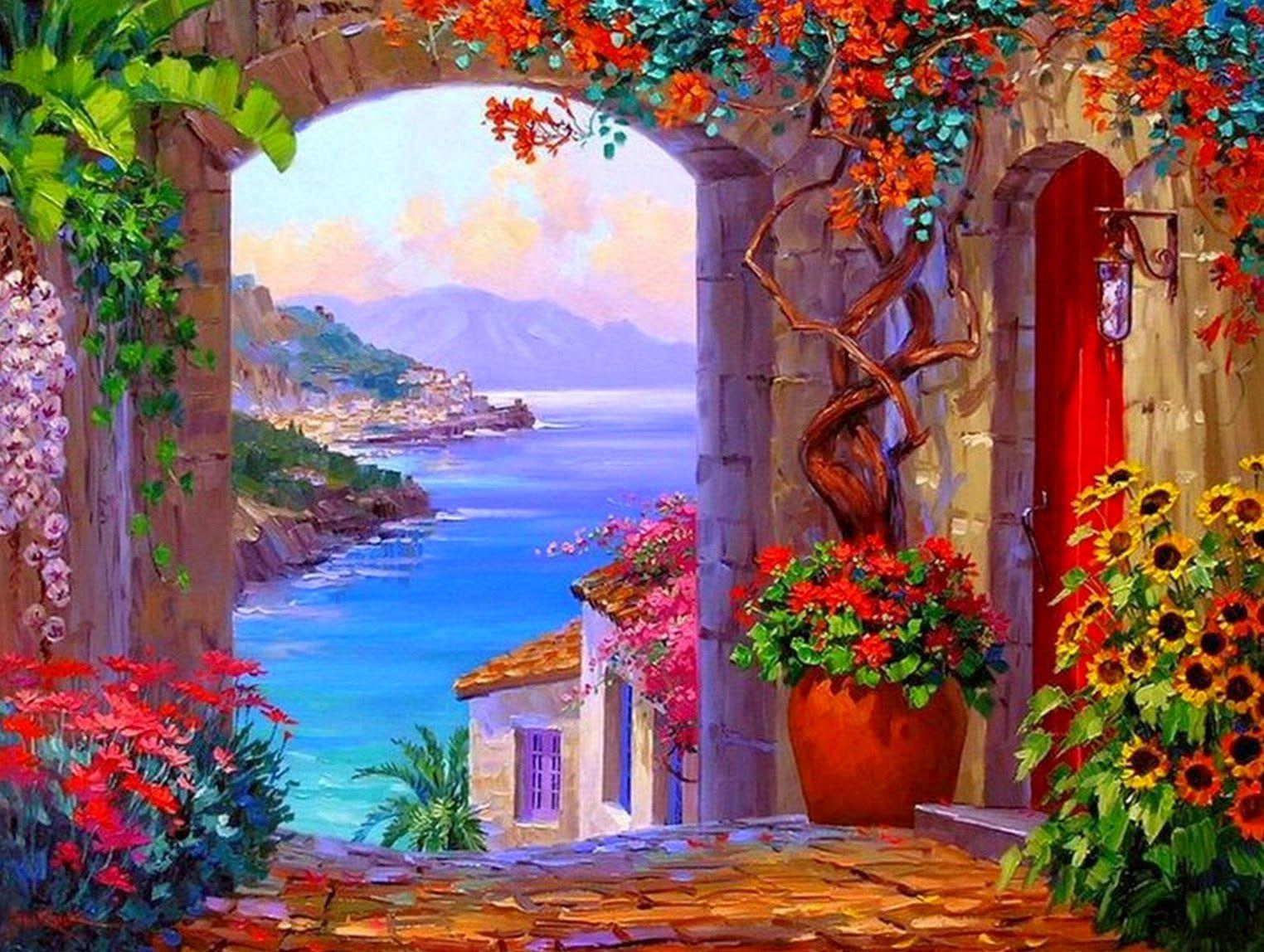 Cuadros de paisajes de grecia de b squeda grecia - Cuadros espectaculares modernos ...