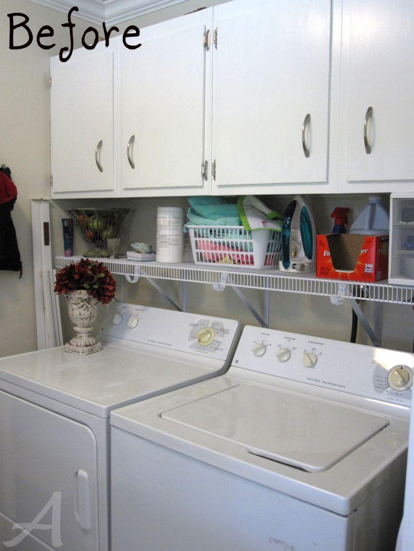 Organizing A Small Laundry Room | Laundry room organization, Small ...