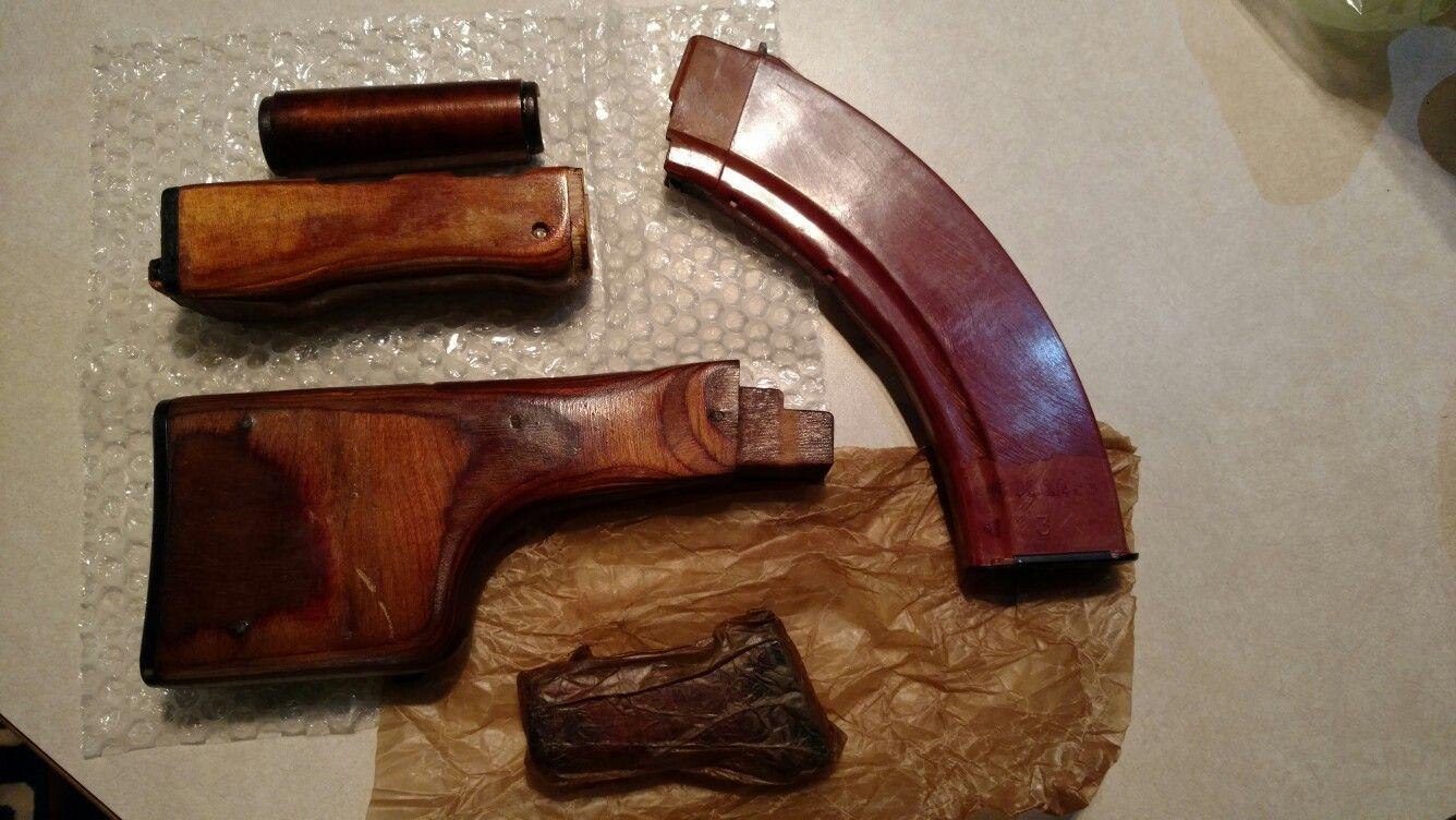 Rpk stock sets- plum rpk74, new wood with bakelite 40 rd