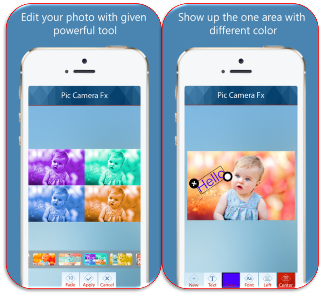 Give amazing #effects to your favorite photo and make it more attractive by the photo editor #iOSapp Pic Camera Fx