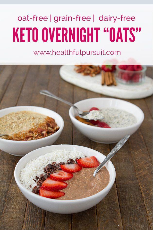 "Keto Overnight ""Oats"" | Recipe | Healthy Breakfast | Pinterest | Keto, Overnight oats and Latte"