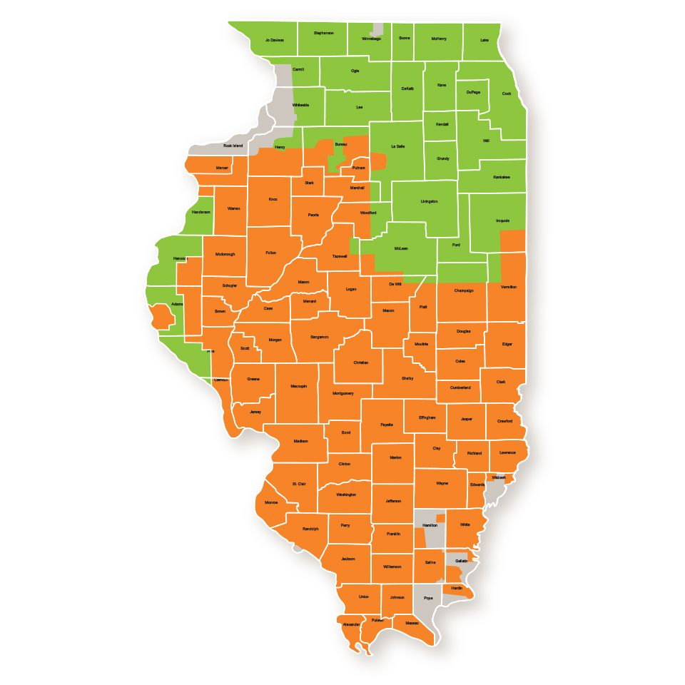 Ambitenergy illinois service area map illinois is the