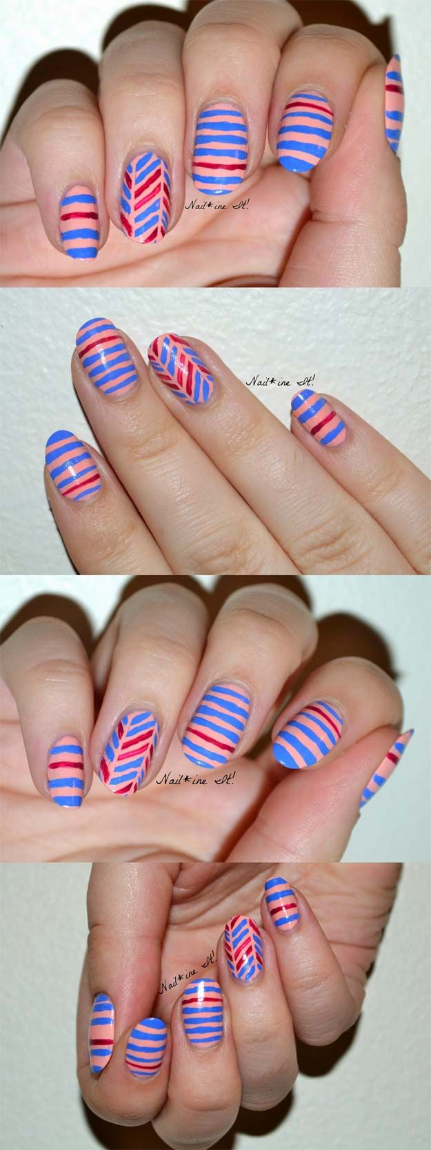 36 Striped Nail Art Ideas | Nail art stripes, Nail tape and Scotch tape