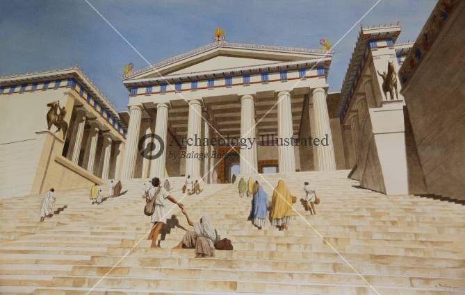 Propylaia, entrance to the Acropolis in Athens, 4th ...