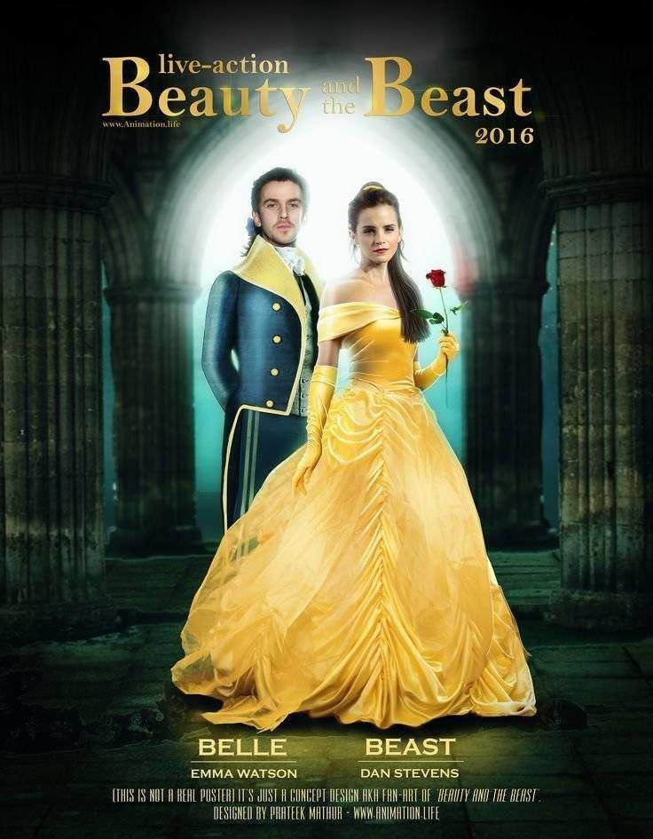 Emma Watson Beauty And The Beast Poster