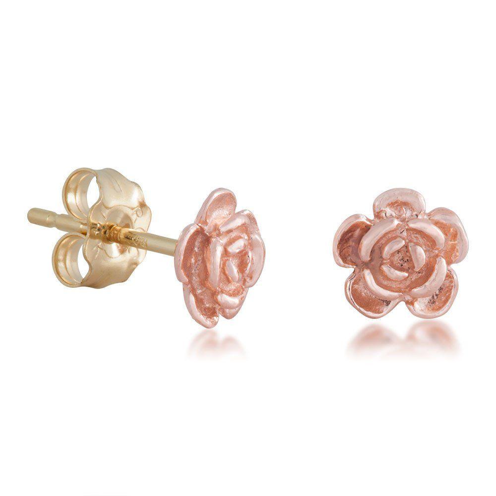 Simple Rose Black Hills Gold Earrings | Simple rose, Black hills ...