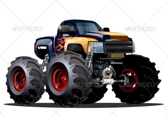 Cartoon Monster Truck Monster Trucks