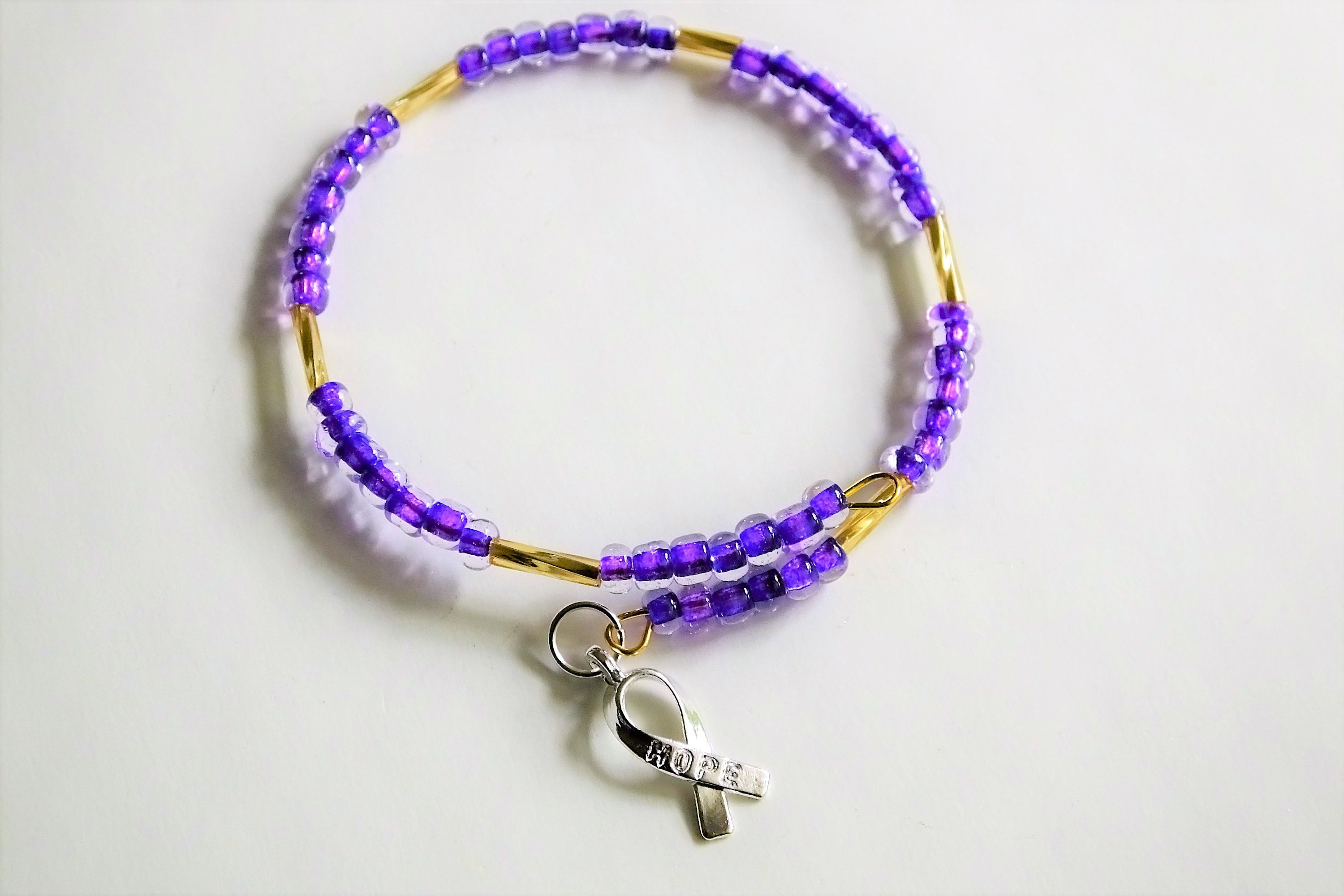 bracelet pin s buttermints alzheimer purple ribbon awareness