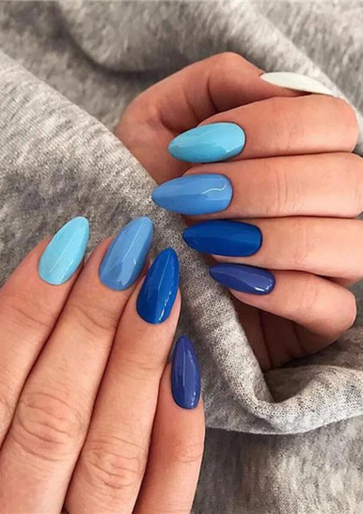27 Best Nail Polish Colors Ideas 22 In 2020 Blue Nail Art Designs Winter Nails Acrylic Blue Nail Art