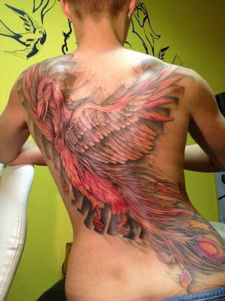 Tatuaże Damskie Phoenix Na Plecach Tattoos Pinterest