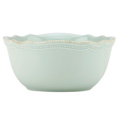 Lenox French Perle Bead 20 oz. All Purpose Bowl Color: Ice Blue