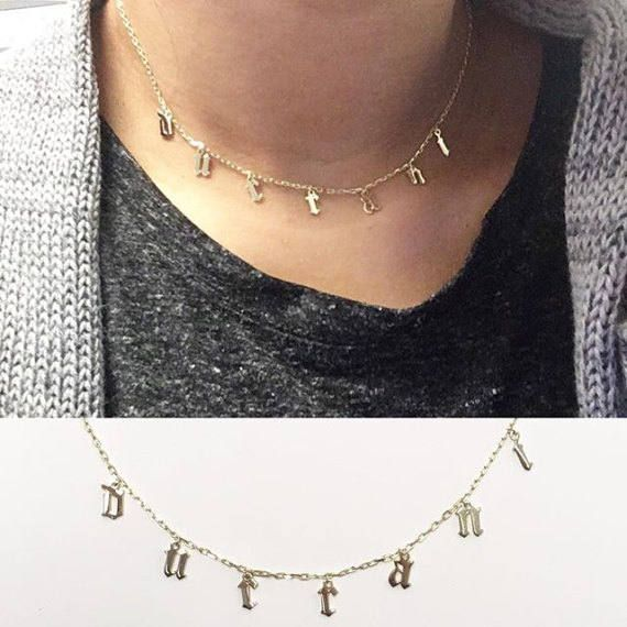 a0ad5bdf086b4 Choker Necklace - Personalized Choker Necklace - Custom Name Choker ...