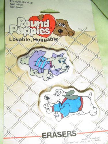 Pound Puppies Erasers Con Imagenes