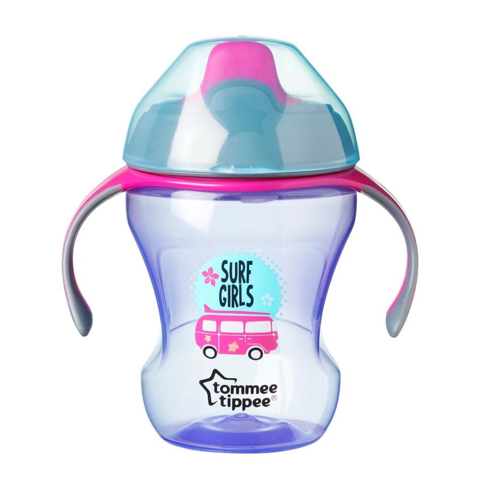 Tommee Tippee 8 Ounce Aloha Trainer Sippy Cup Purple Baby Sippy Cup Baby Bottles Baby Feeding Supplies